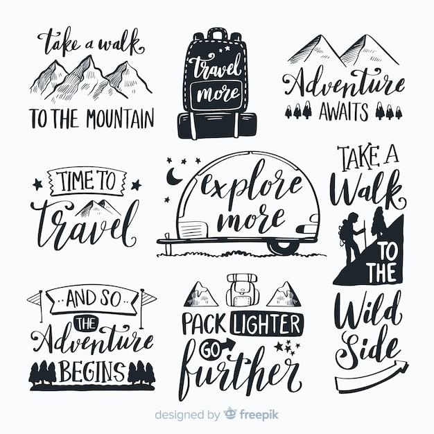 Abenteuer-logo-sammlung Kostenlosen Vektoren