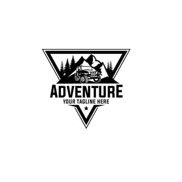 Abenteuer-logo-vorlage Premium Vektoren