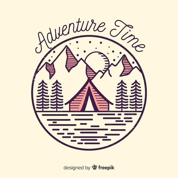Abenteuer logo Kostenlosen Vektoren