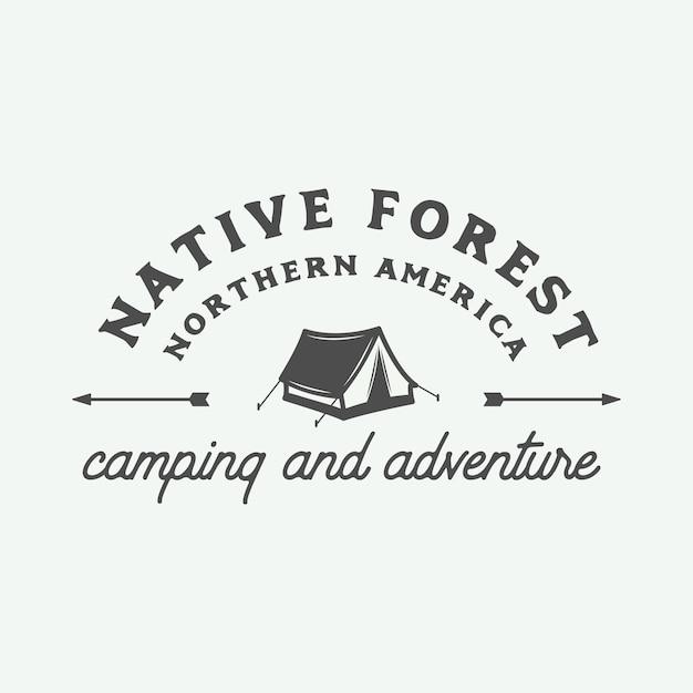 Abenteuer logo Premium Vektoren