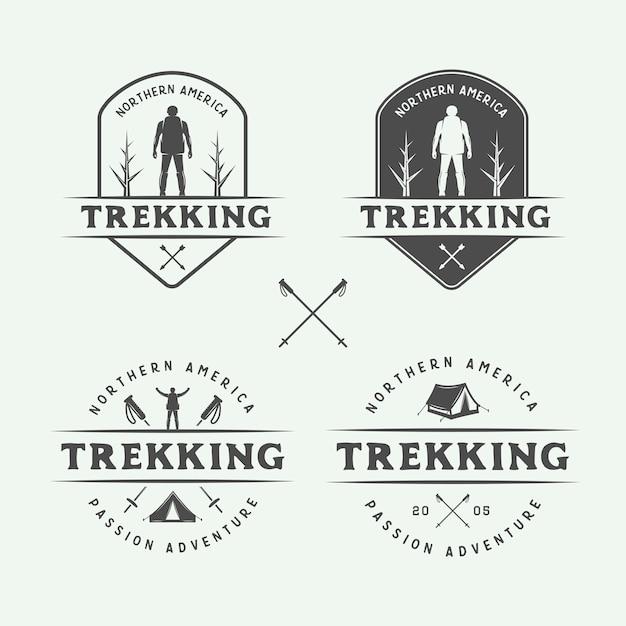 Abenteuer logos Premium Vektoren
