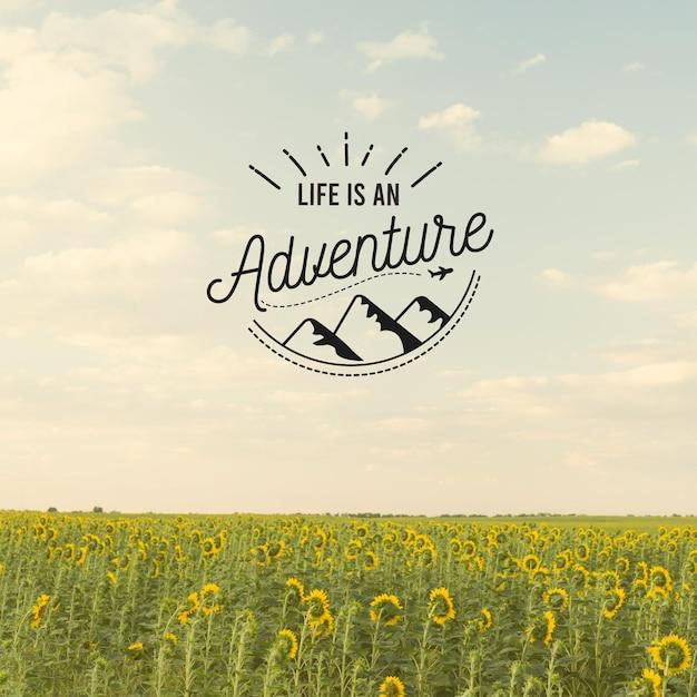 Abenteuer positives zitatkonzept Kostenlosen Vektoren