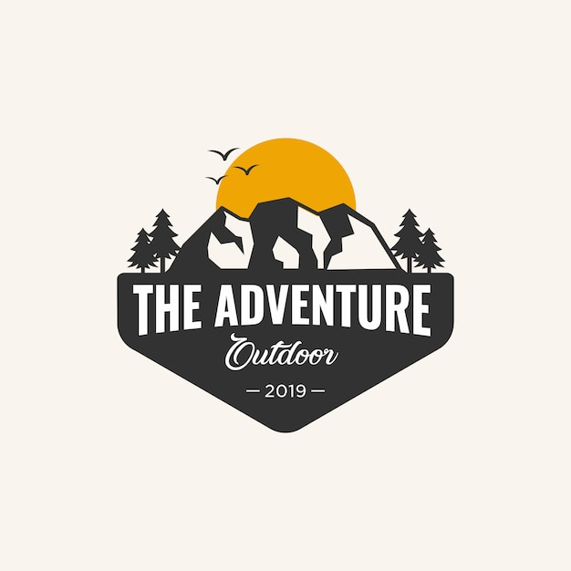 Abenteuerlogoschablone, Premium Vektoren