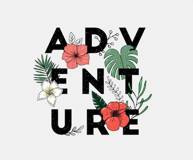 Abenteuerslogan Premium Vektoren
