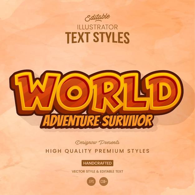 Abenteuerspiel-textstil Premium Vektoren