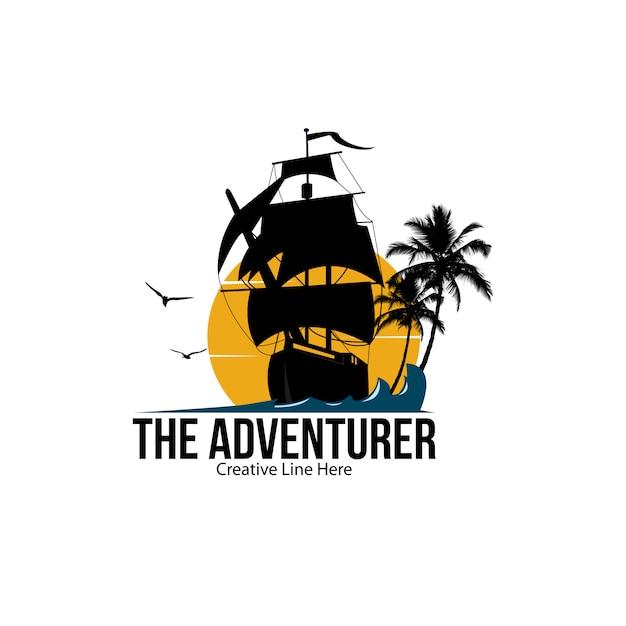Abenteurer-logo Premium Vektoren
