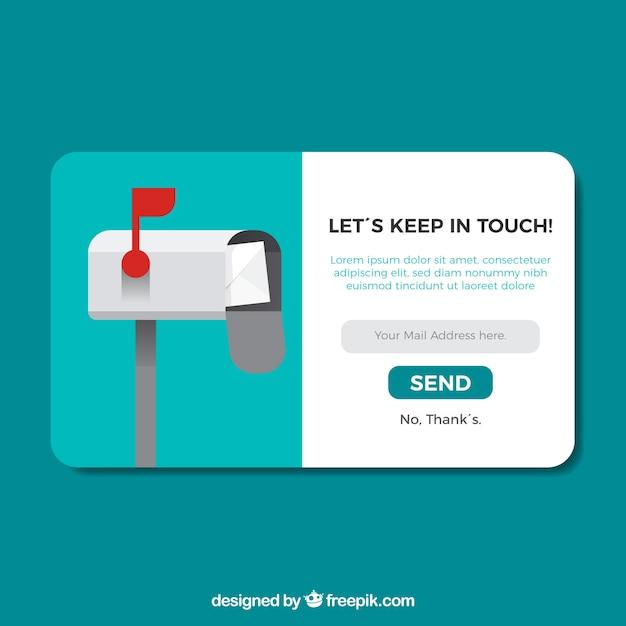 Abonnement pop-up mit flachem design Kostenlosen Vektoren