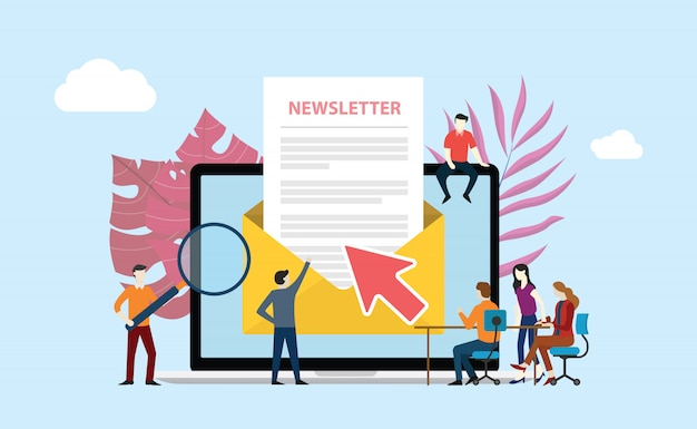 Abonniere den newsletter Premium Vektoren