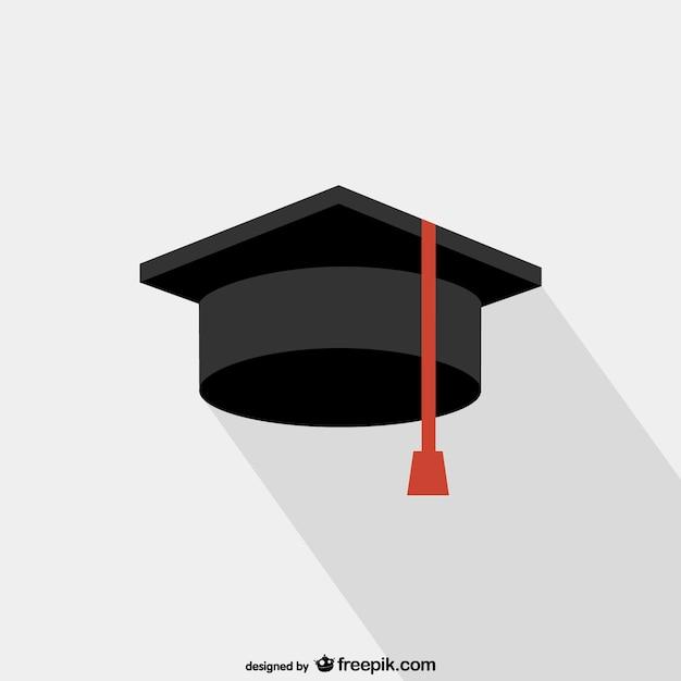 Abschluss college hut vektor Kostenlosen Vektoren