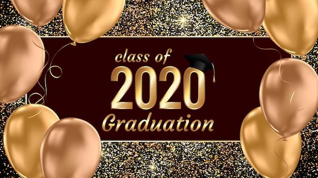 Abschlussbanner der klasse 2020 Premium Vektoren