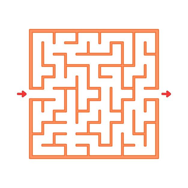 Abstact labyrinth. Premium Vektoren