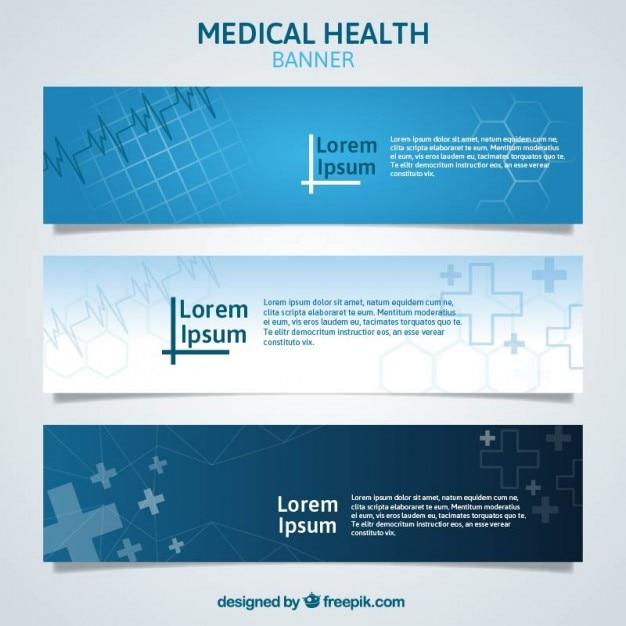 Abstract blue medizinische banner Kostenlosen Vektoren