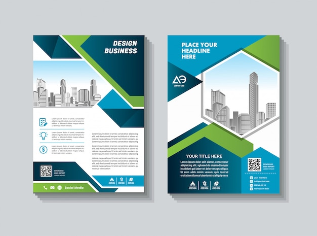 Abstract cover und layout für präsentation und marketing Premium Vektoren