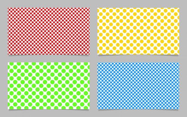 Abstract Dot Muster Visitenkarte Hintergrund Vorlage Design