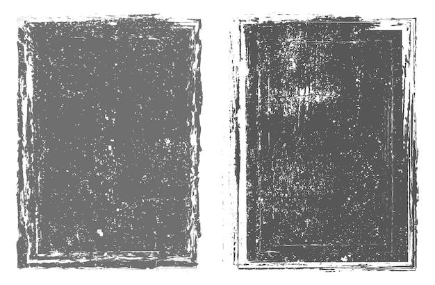 Abstract grunge frameset Premium Vektoren