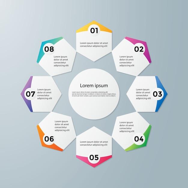 Abstract Infografiken Anzahl Optionen Vorlage | Download der Premium ...