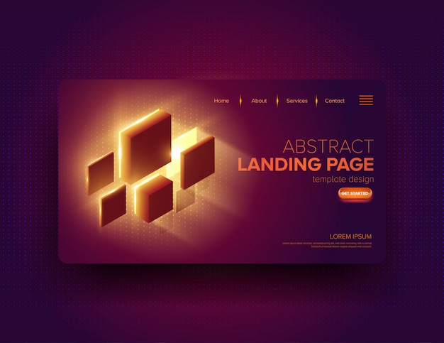 Abstract landing page design Premium Vektoren