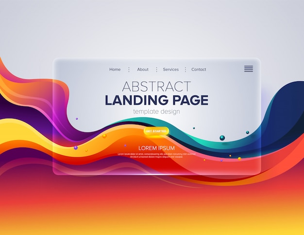 Abstract landing page design Premium Vektoren