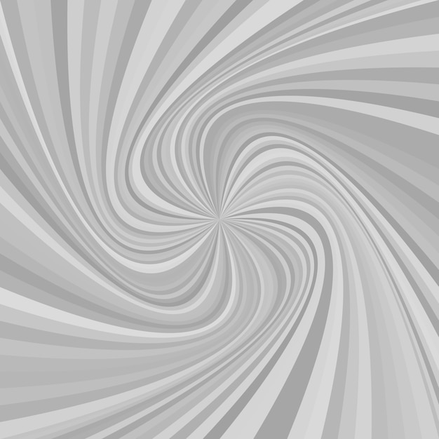 Abstract swirl hintergrund - vektor-illustration von gedrehten strahlen in grautönen Kostenlosen Vektoren