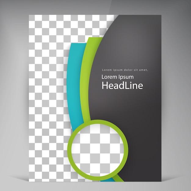Abstract vector moderne flyer broschüre. Kostenlosen Vektoren
