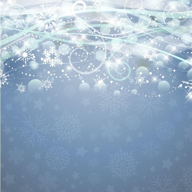 Abstract weihnachten blauen hintergrund mit schneeflocken - Weihnachten hintergrund kostenlos ...