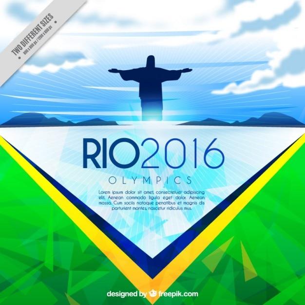 Abstrakt brasilien hintergrund der olympischen spiele Kostenlosen Vektoren