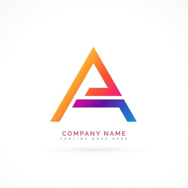 Abstrakt brief ein logo-design Kostenlosen Vektoren