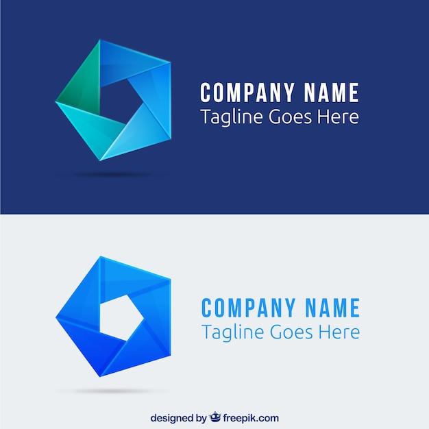 Abstrakt fünfeck logo Kostenlosen Vektoren