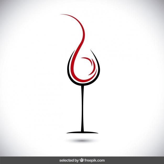 Abstrakt Glas Wein logo Kostenlose Vektoren