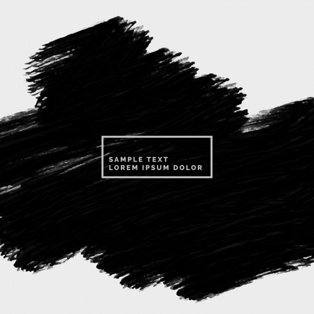 Abstrakt hand bemalt schwarzen strich Kostenlosen Vektoren