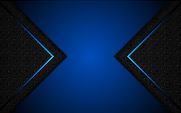 Abstrakt hellblau auf schwarzem hintergrund Premium Vektoren