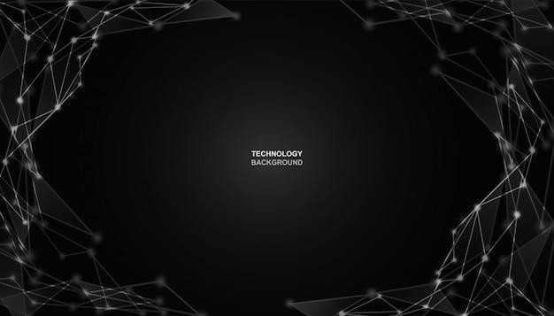 Abstrakt. kommunikationen oder technologie, wissenschaftshintergrund Premium Vektoren