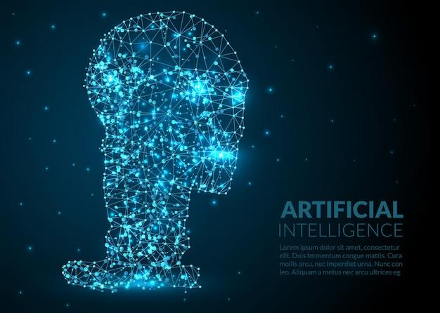 Abstrakt künstliche intelligenz illustration Kostenlosen Vektoren