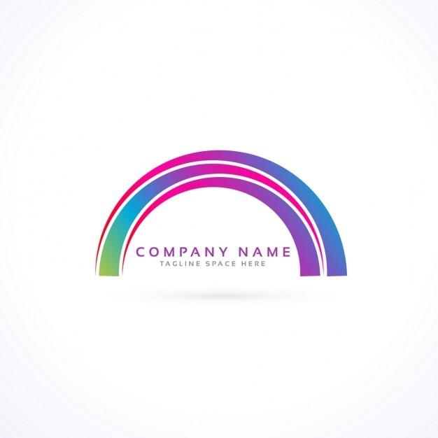 Abstrakt lebendige rainbow logo Kostenlosen Vektoren