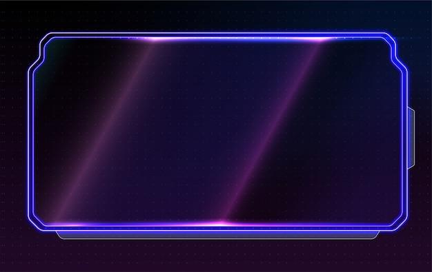 Abstrakt leuchtendes konzeptionelles layout für benutzeroberfläche, apps und spiel. Premium Vektoren