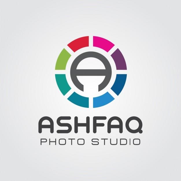 Abstrakt objektiv letter a logo Kostenlosen Vektoren