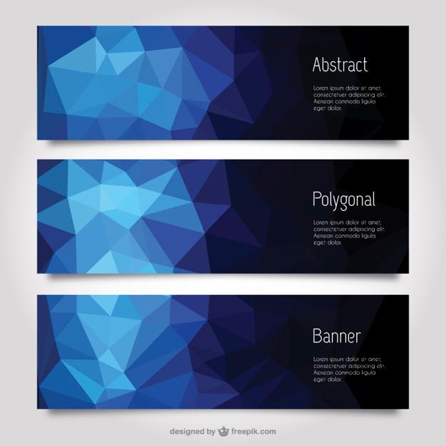 Abstrakt polygonale banner Kostenlosen Vektoren