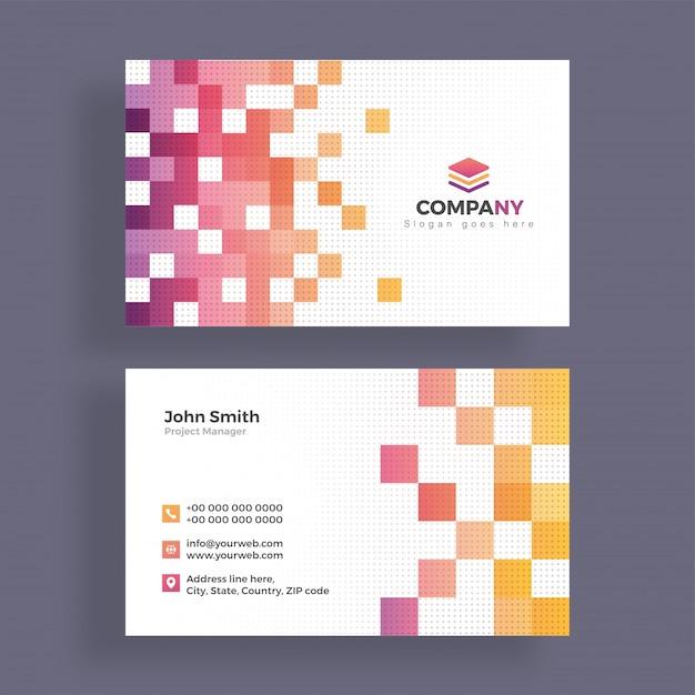 Abstrakt Visitenkarten Design Horizontale Visitenkarte