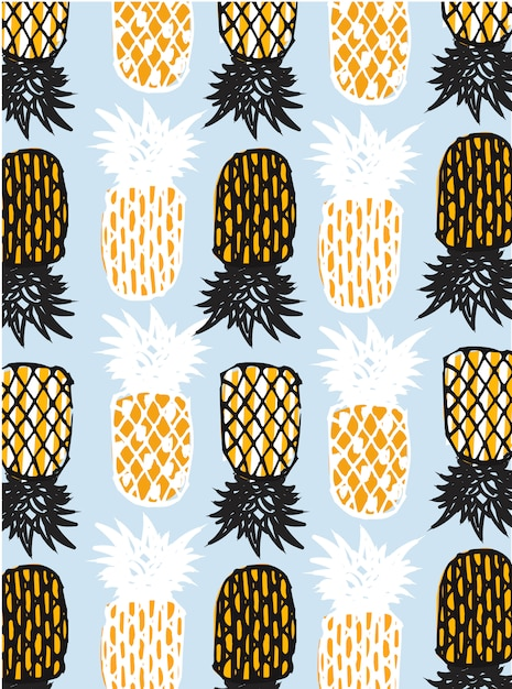 Abstrakte ananas Premium Vektoren