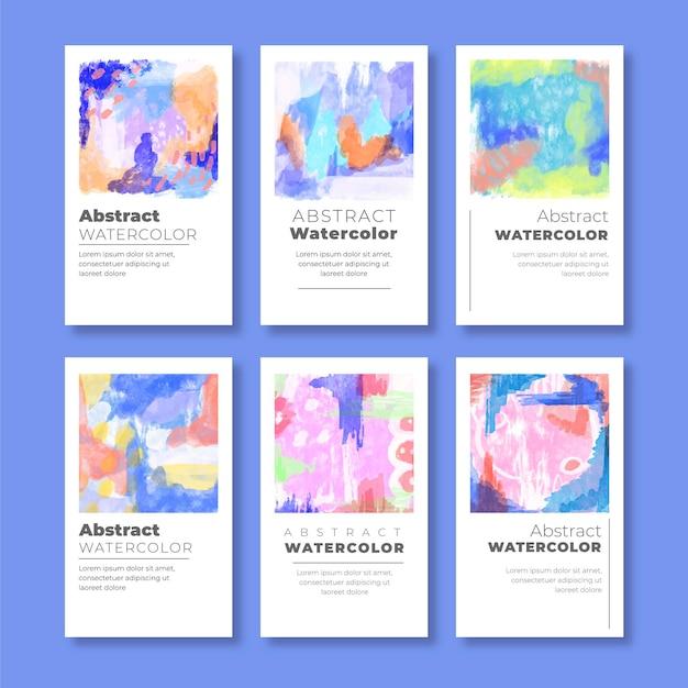 Abstrakte aquarell-abdeckungssammlung Kostenlosen Vektoren