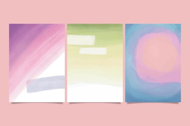 Abstrakte aquarellformen - abdeckungen Kostenlosen Vektoren