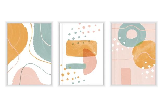 Abstrakte aquarellformen - abdeckungen Premium Vektoren