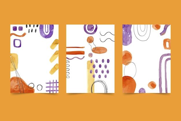 Abstrakte aquarellformen decken sammlung ab Kostenlosen Vektoren