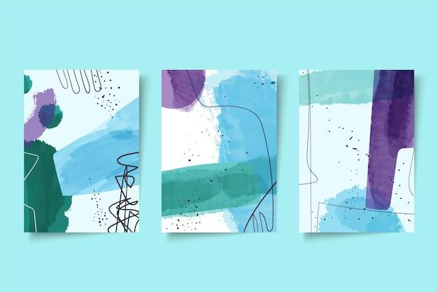 Abstrakte aquarellformen deckt packung ab Kostenlosen Vektoren