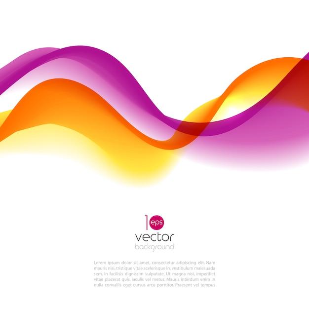 Abstrakte bewegungswellenillustration Premium Vektoren