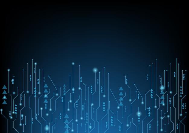 Abstrakte blaue computertechnologie Premium Vektoren
