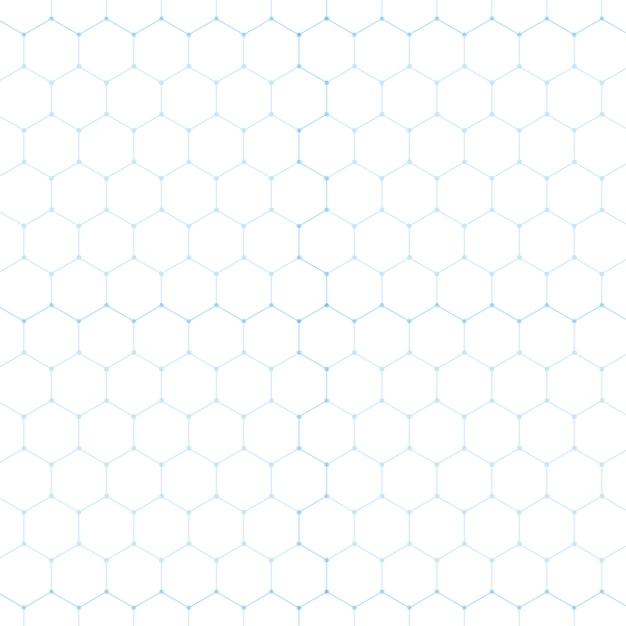 Abstrakte blaue technologie sechseck weiß Kostenlosen Vektoren