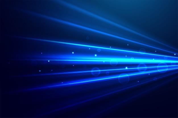 Abstrakte blaue technologie strahlt hintergrund aus Kostenlosen Vektoren