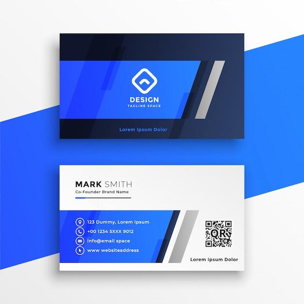 Abstrakte blaue visitenkarte Kostenlosen Vektoren