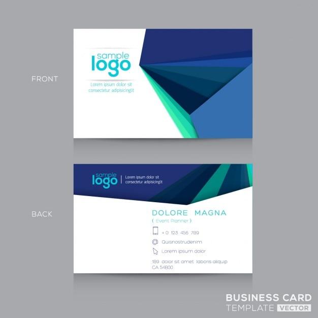 Abstrakte Blaue Visitenkarten Design Vorlage Kostenlose Vektor